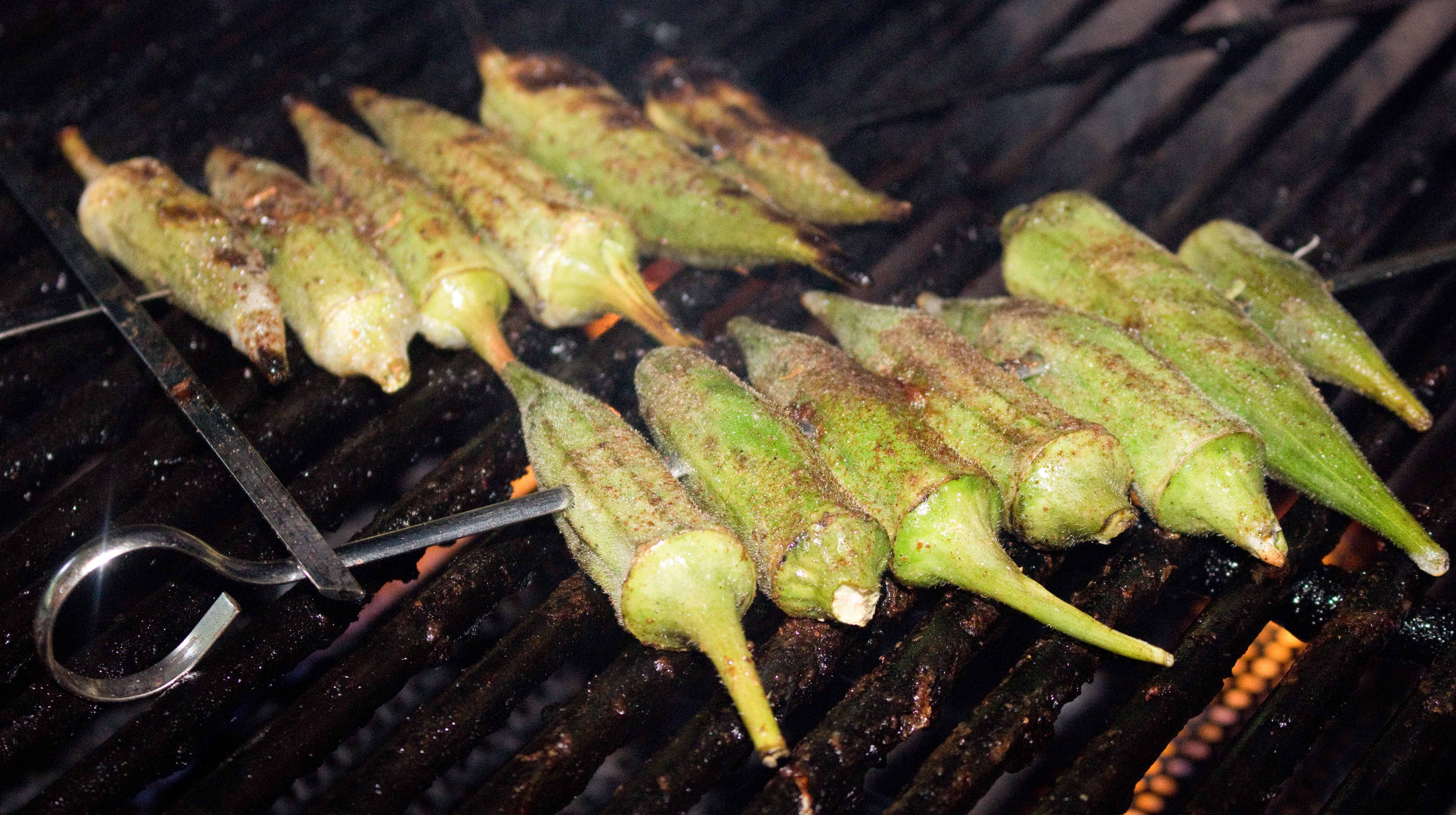 how to cook okra on the grill