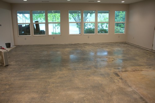 How We Stained Our Concrete Floors | Savvy Apron
