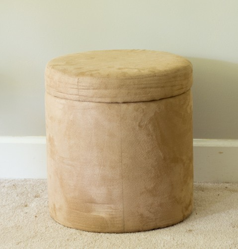 how to makeover a microsuede ottoman