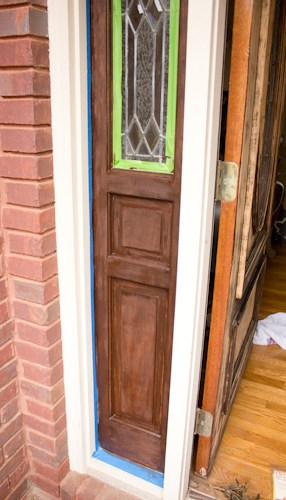 I stained my front door with Gel Stain. It is so easy to do yourself.