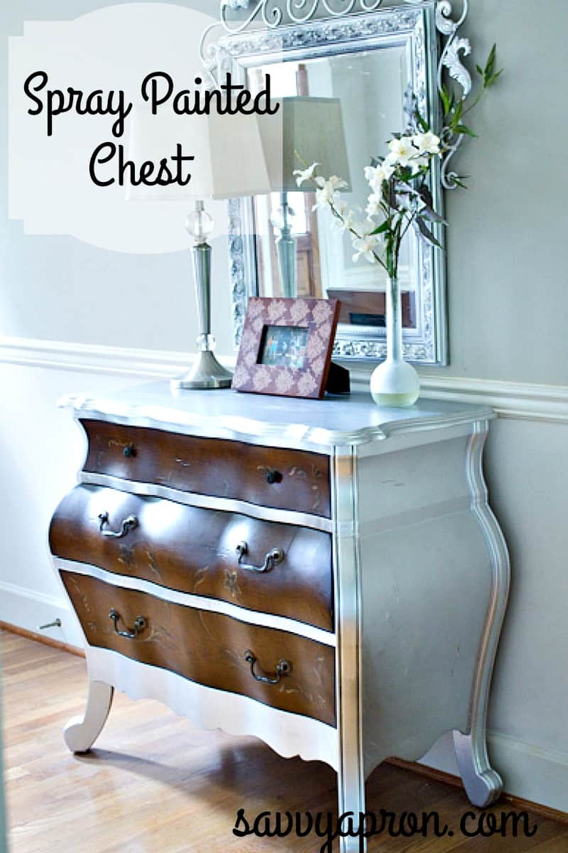 Chest Makeover With Spray Paint Savvy Apron