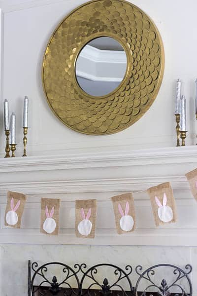 This Easter Bunny Garland was easy, and took me less