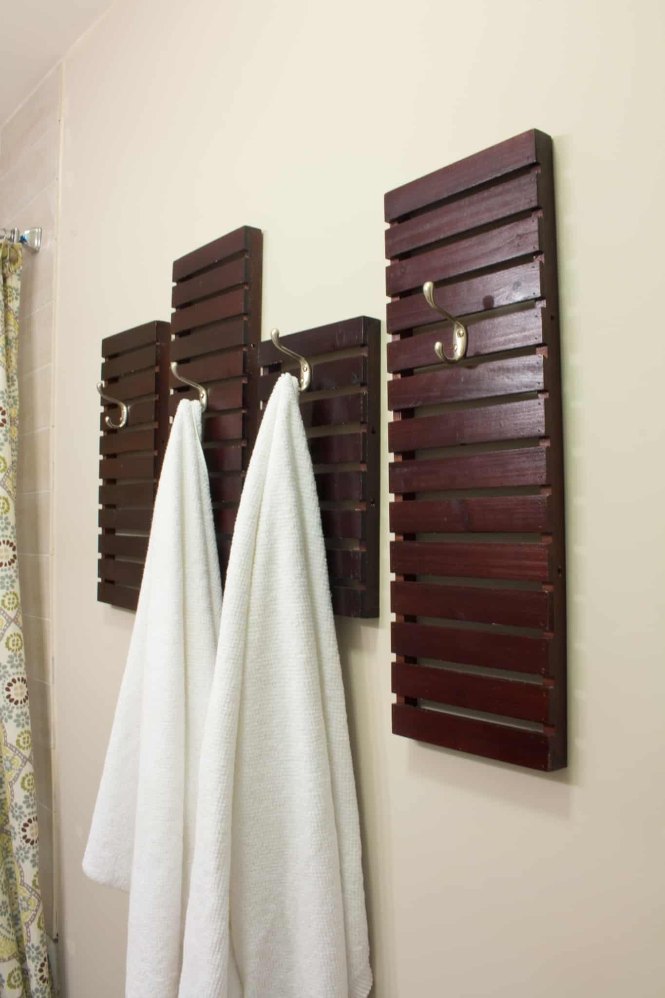 DIY Towel Rack Made From Shelves-Thrift Store Upcycle ...