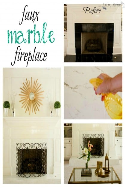 My fireplace was severely damaged. I painted the black marble to look like new white marble, and it is stunning! This is a easy and cheap way to get the look of expensive marble.