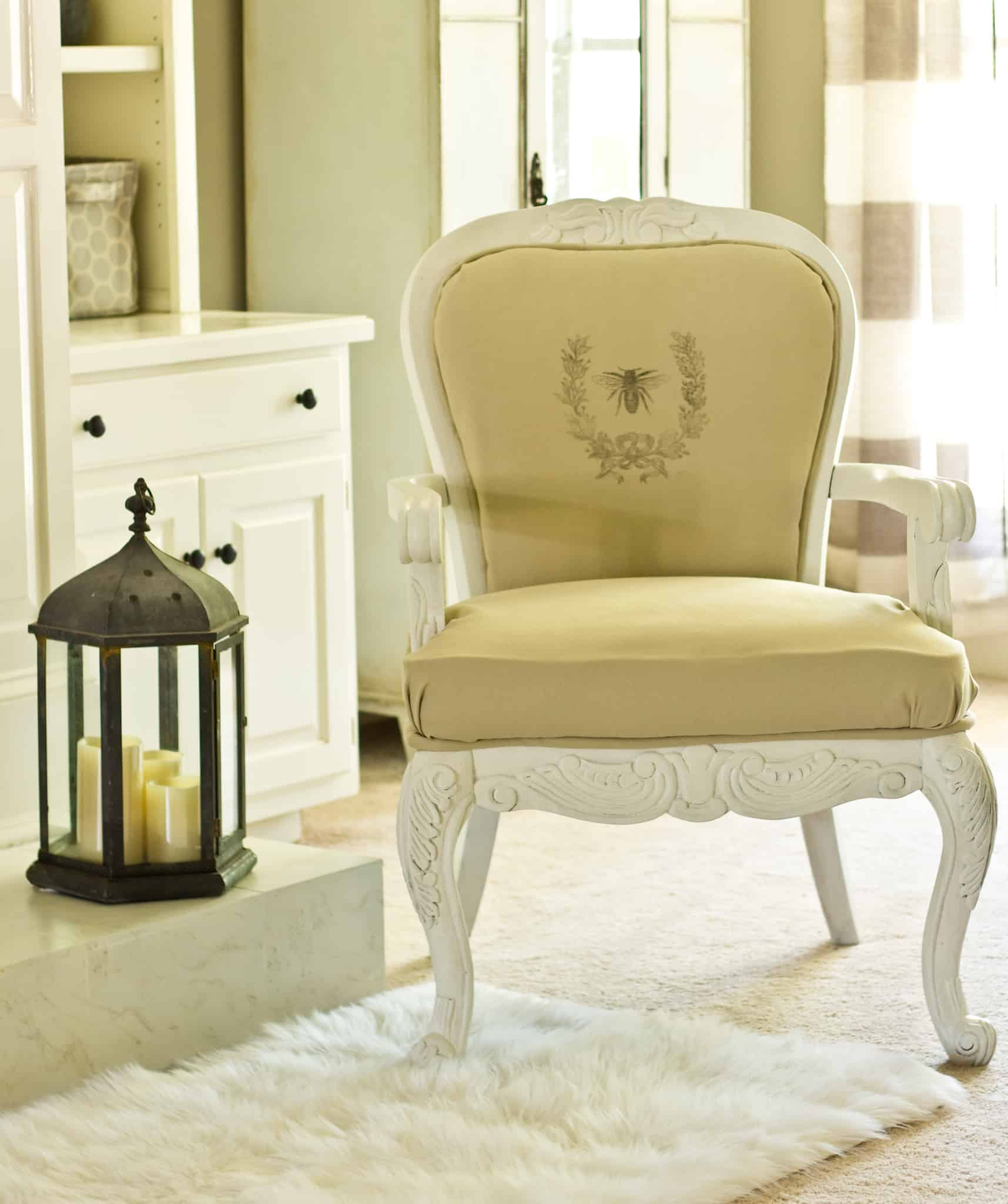DIY French Chair with Graphic