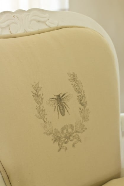 I reupholstered a french chair with a staple gun and a glue gun. Easy and no-sew!