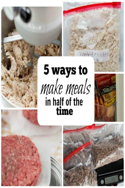 These 5 ways to make meals in half the time has made preparing meals easier and less stressful.