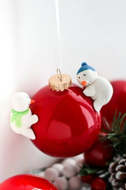 This DIY Snowman Christmas Ornament is so easy and fun to make!