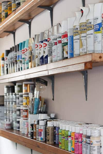 How to organize your crafts without a craft room savvy apron - Supplies needed to paint a room ...