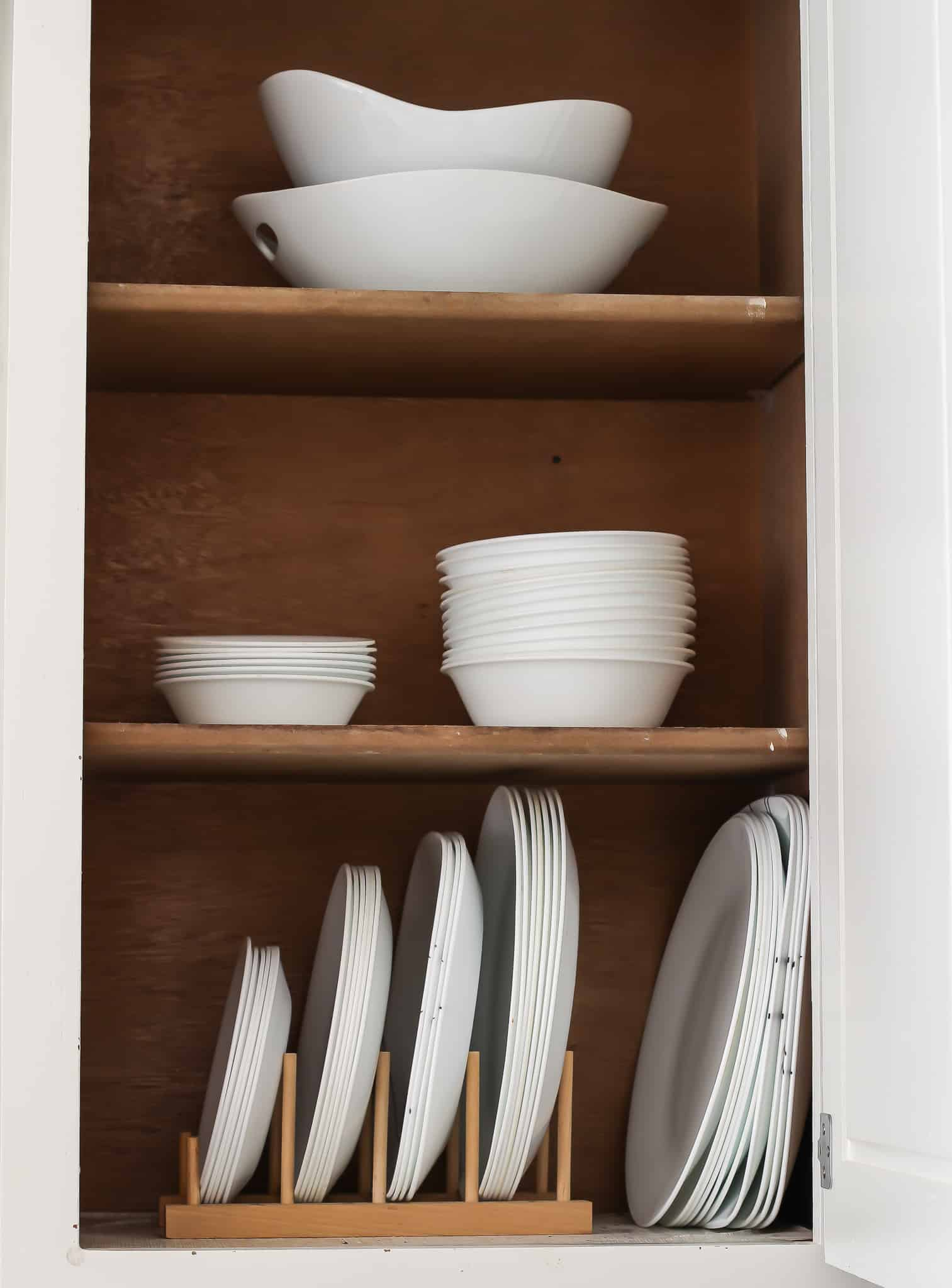 Make dishes easy accessible for kitchen organization.
