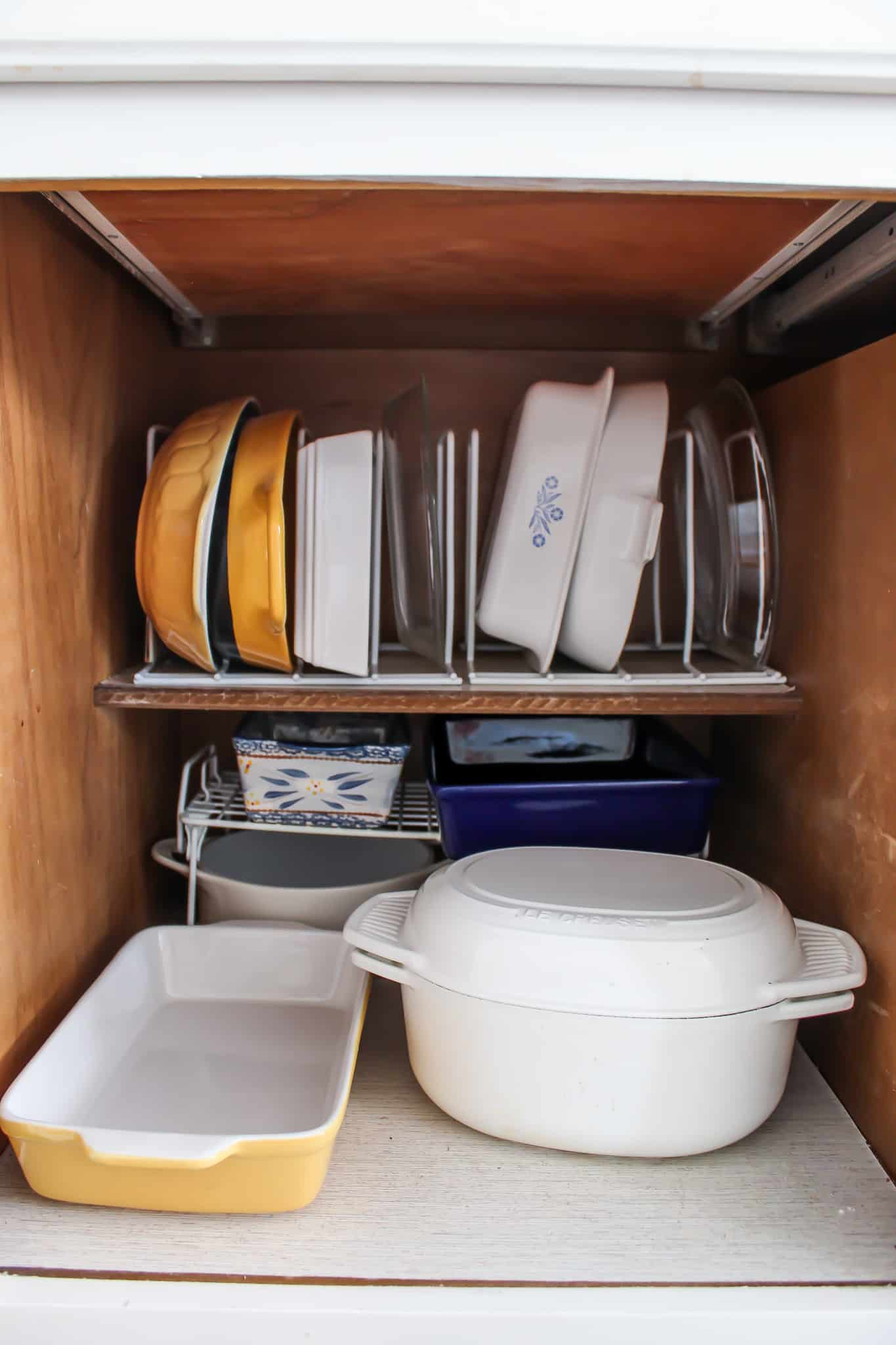 Make dishes easily accessible.