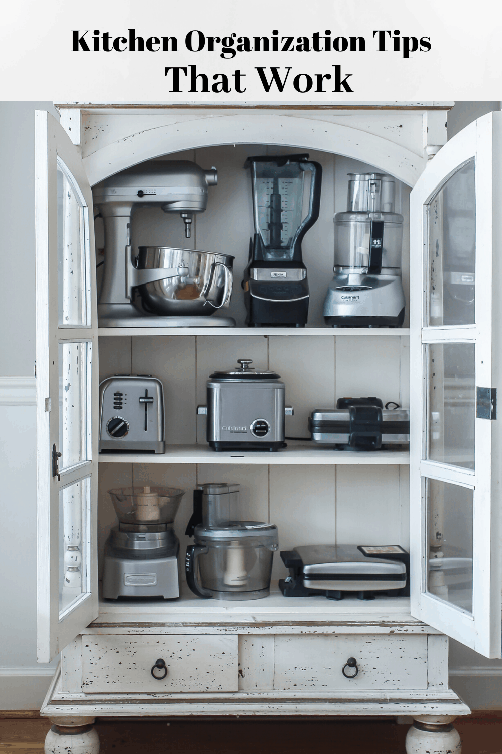 Kitchen organization tips that work. These tips will help keep your kitchen cleaner and more organized.