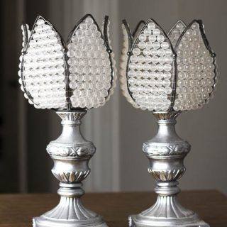 DIY Candle Holders Made From Lamps