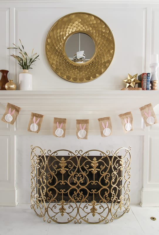 Make an Easter Bunny garland for your fireplace.
