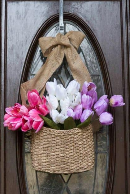 Spring Inspiration-Front Door Hanging