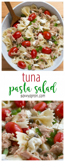 This recipe for tuna pasta salad is the best pasta salad I have ever had!