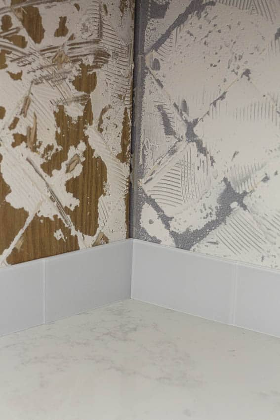 We tiled our kitchen backsplash with Aspect Peel and Stick tiles and they look beautiful.