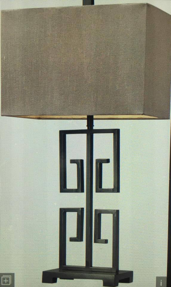 Gold and white spray painted lamp makeover from thrifted lamp.