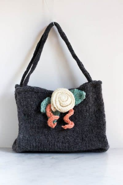 Felted Knitted Bag