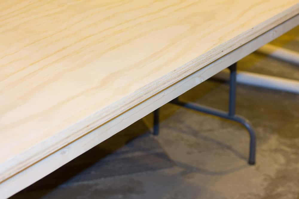 We built our diy zinc top table using a roll of zinc.