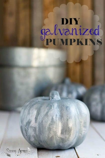 DIY Galvanized Pumpkins