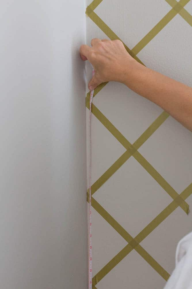 Faux Wallpaper with Tape
