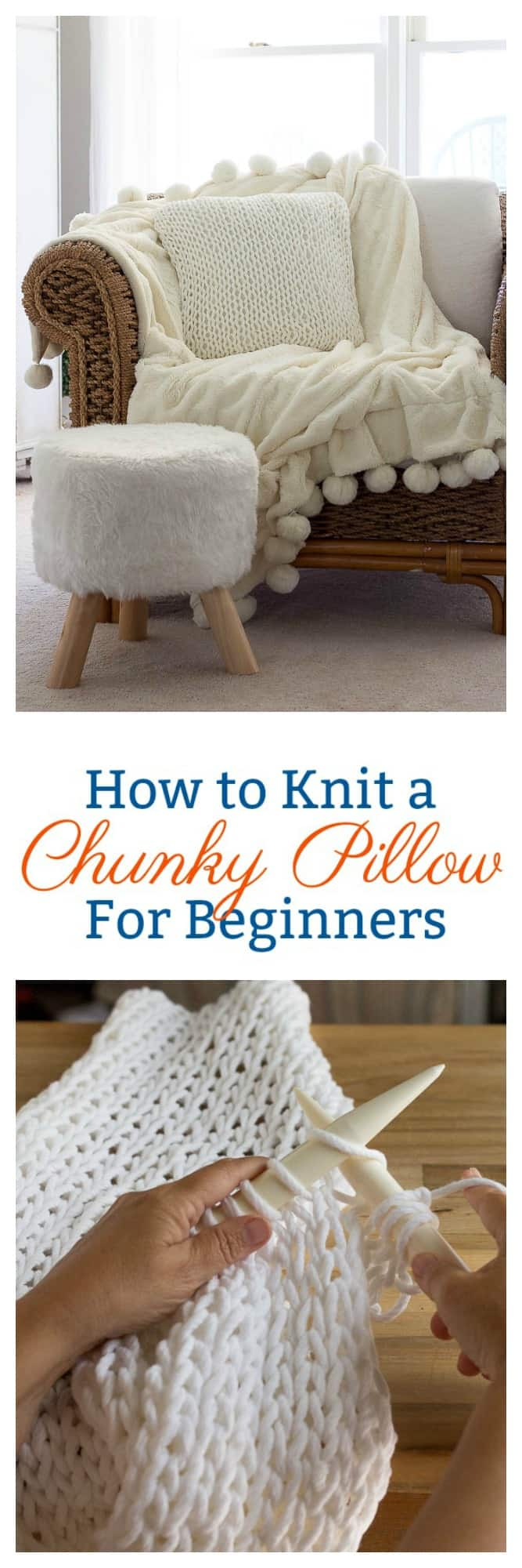 How to Knit a Chunky Pillow for Beginners