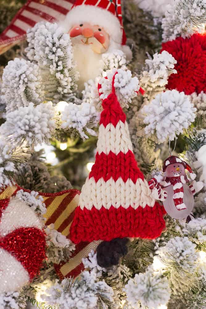 Christmas Tour of Home Knitted Christmas Trees