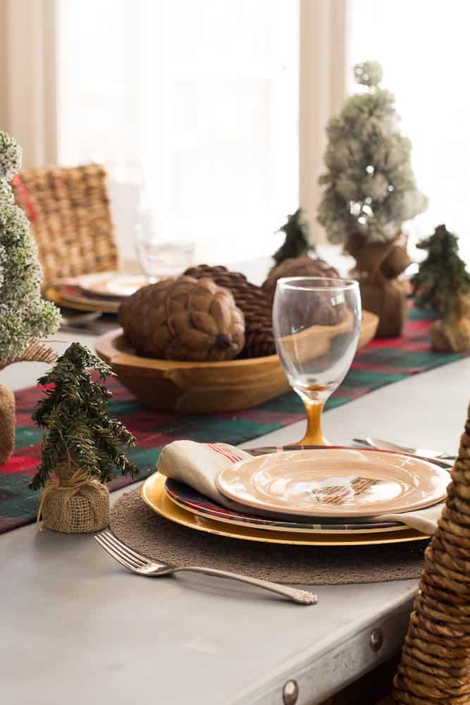 Woodsy Christmas Table