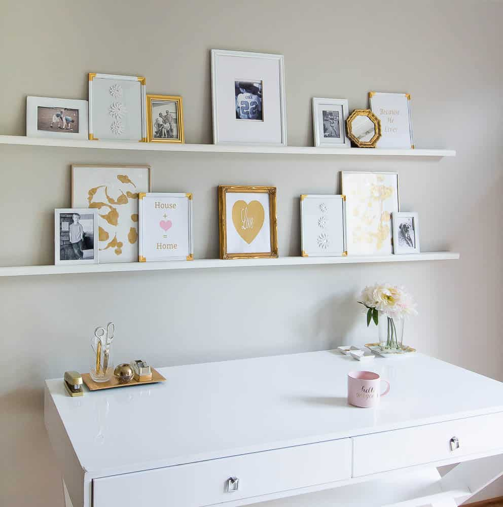 Excellent gallery wall shelf photos best idea home for Gallery wall shelves