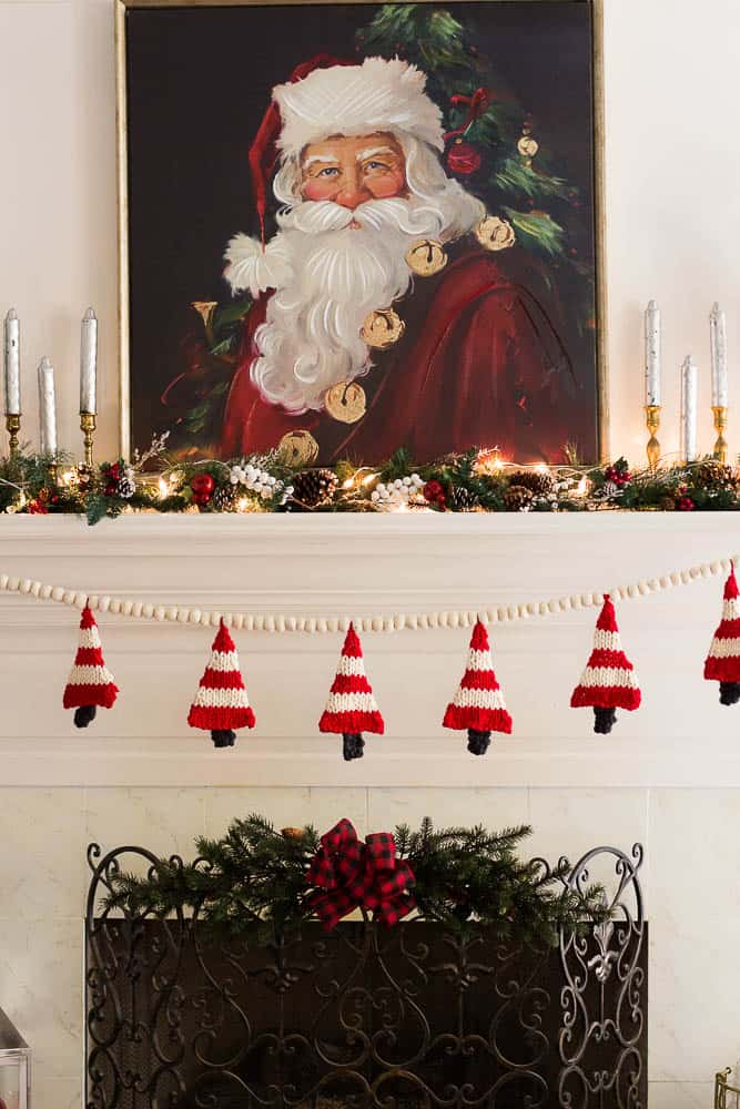Knitted Christmas Tree Banner