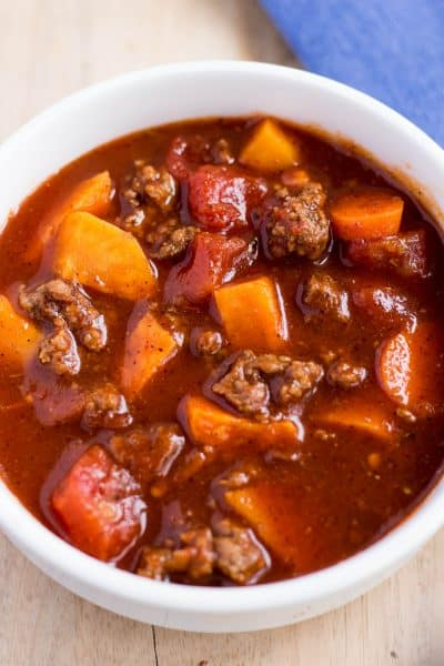 Whole30 and Paleo Sweet Potato Chili