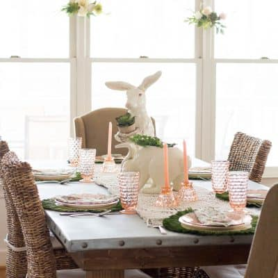Blush and Green Tablescape