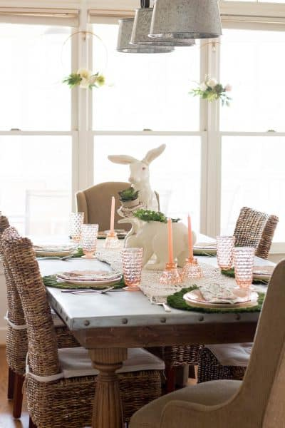 Blush and Green Spring Table