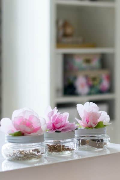 DIY Flower Mason Jars