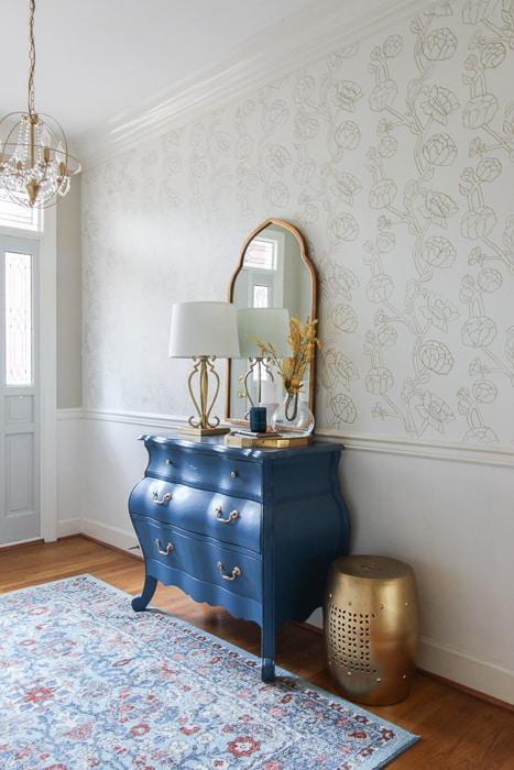 Paint your own faux wallpaper.