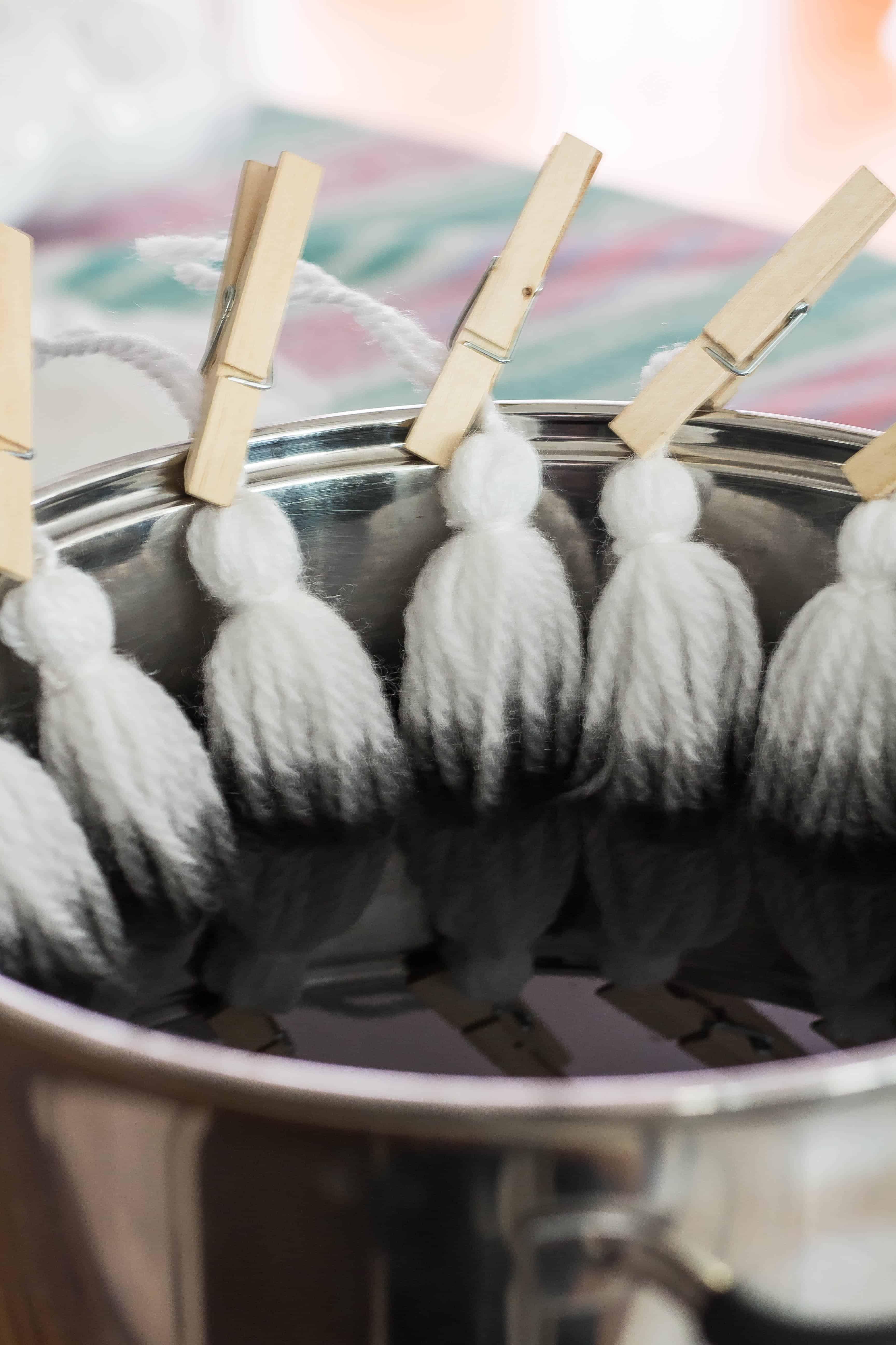 DIY Dyed Tassel Rug