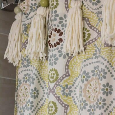 DIY Shower Curtain Tassels