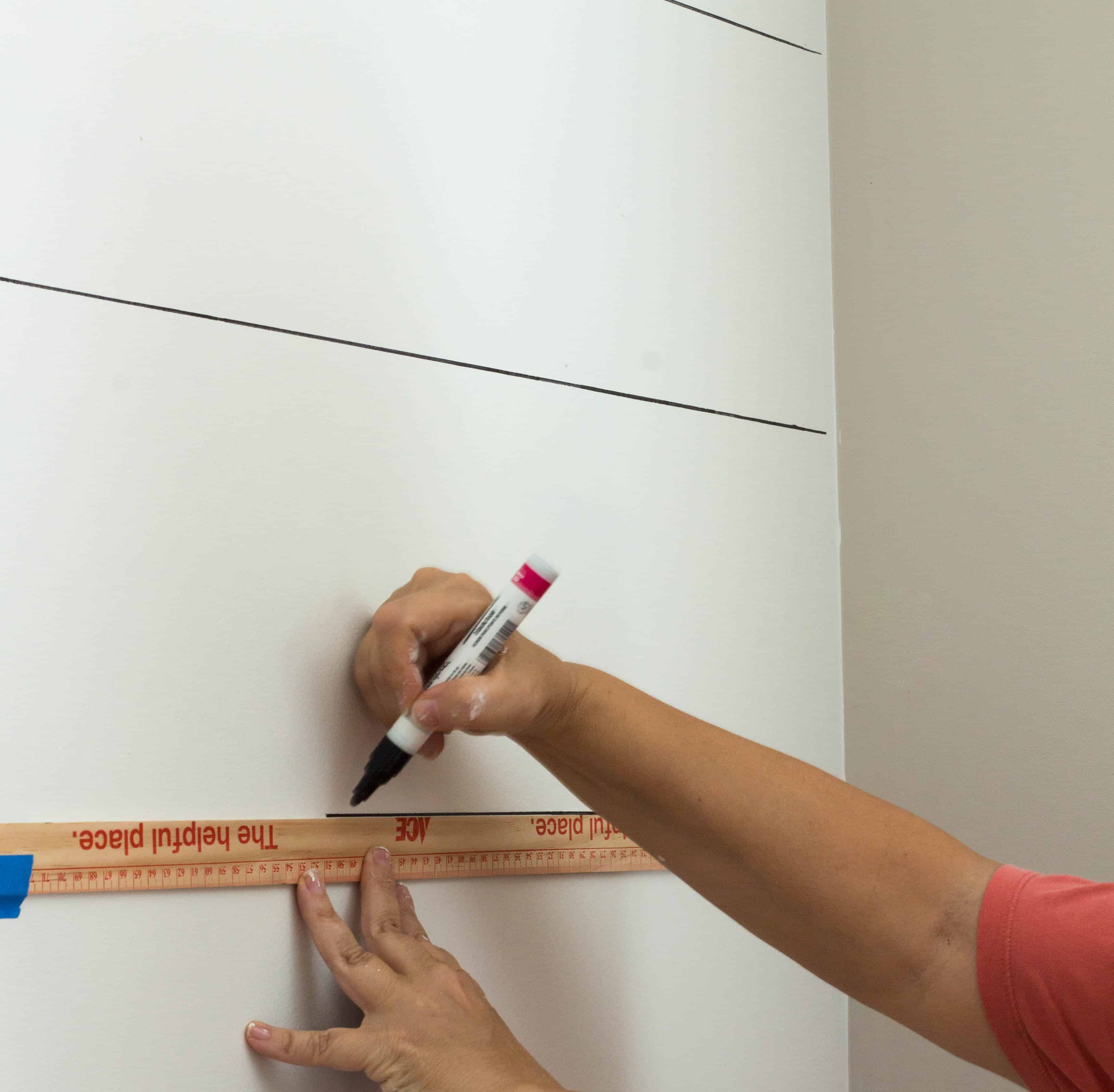 How to Faux Shiplap with a Sharpie Paint Pen