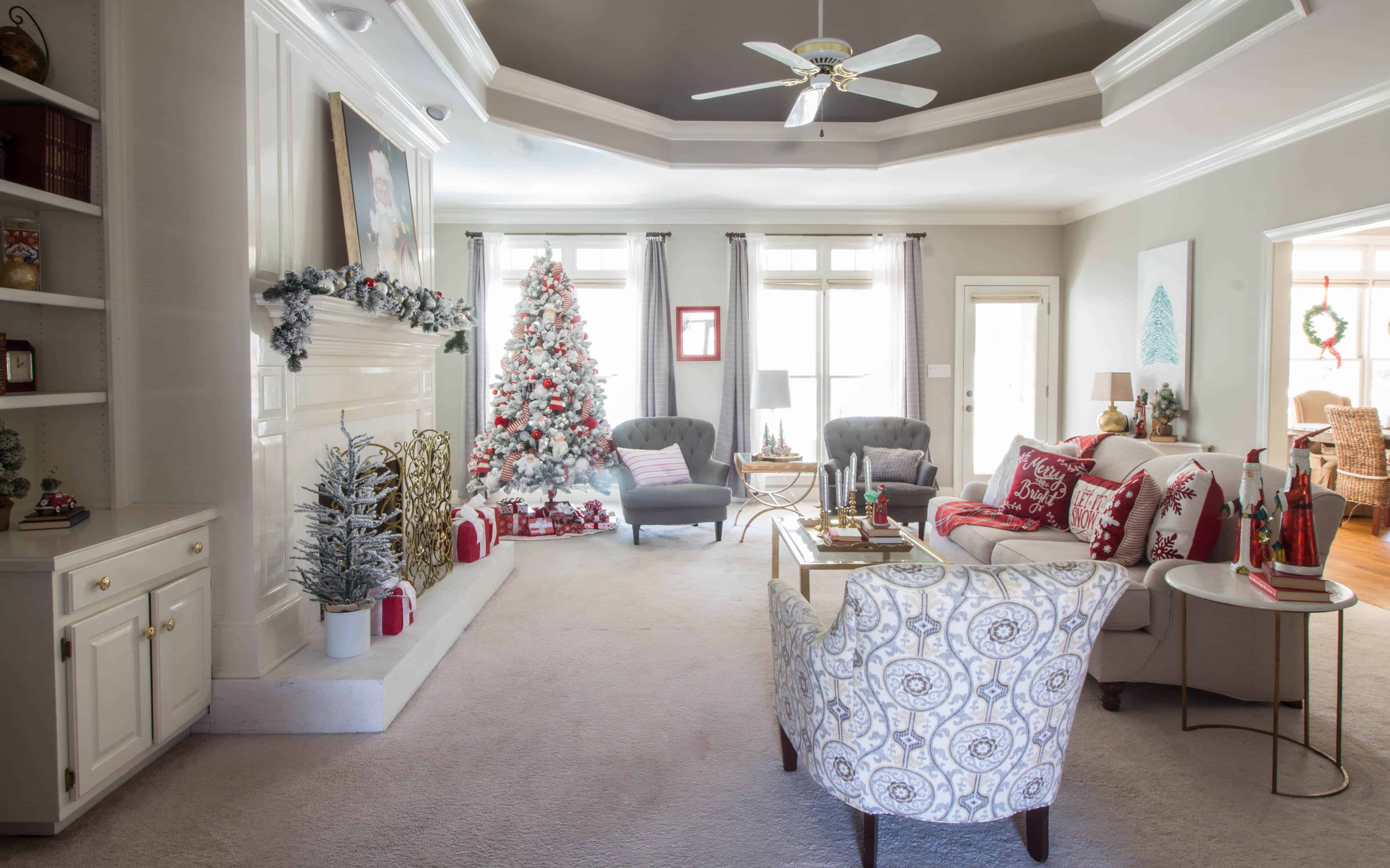 Christmas Home Tour 2018 Living Space