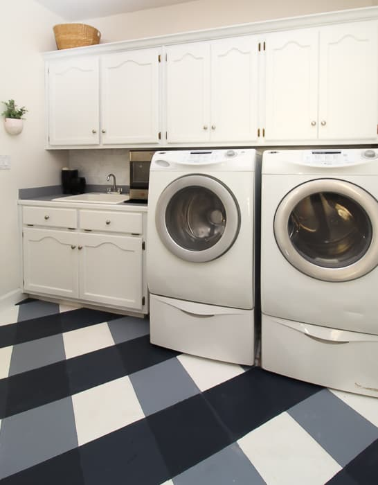 Laundry Room Makeover with Paint