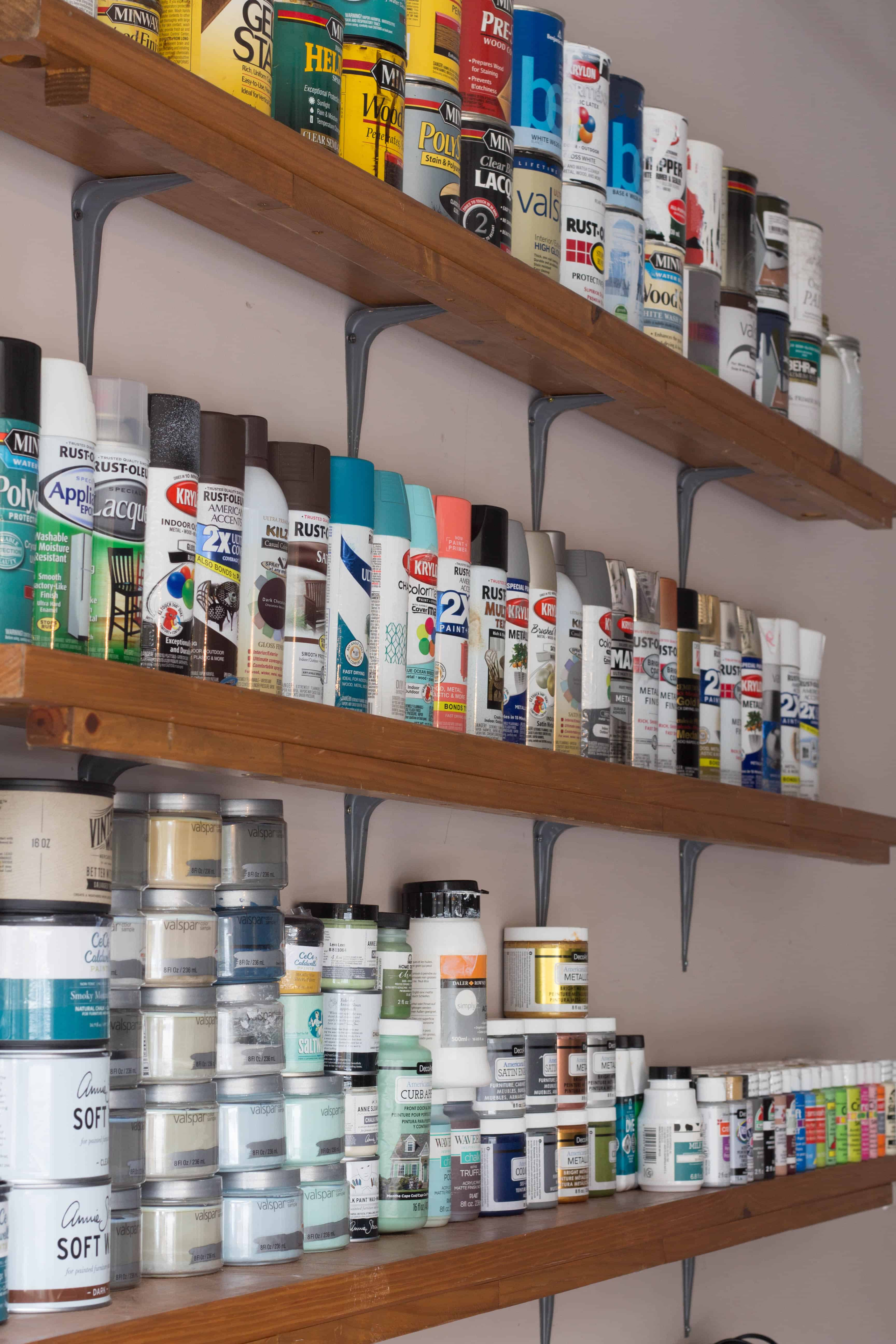 How to organize paint supplies.