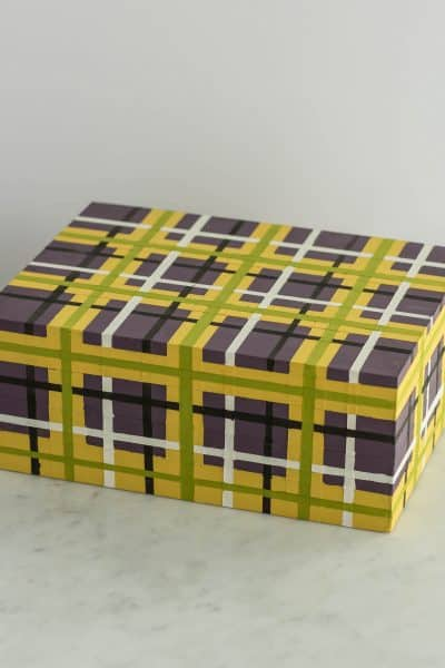 How to Paint a Plaid Keepsake Box