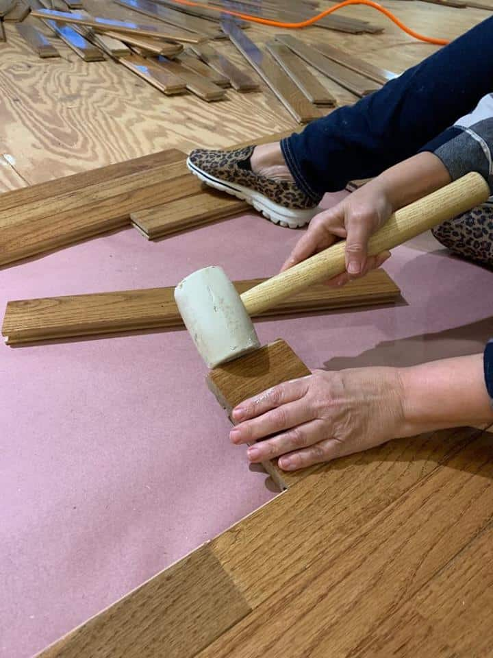 How we installed hardwood floors ourselves.