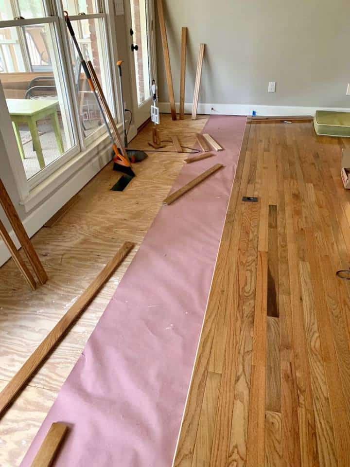 How We Installed Hardwood Floors Diy Savvy Apron