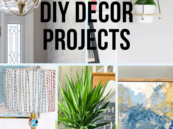 5 Quick DIY decor projects to update your home.