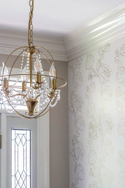 DIY Orb Chandelier Made with Macrame Hoops
