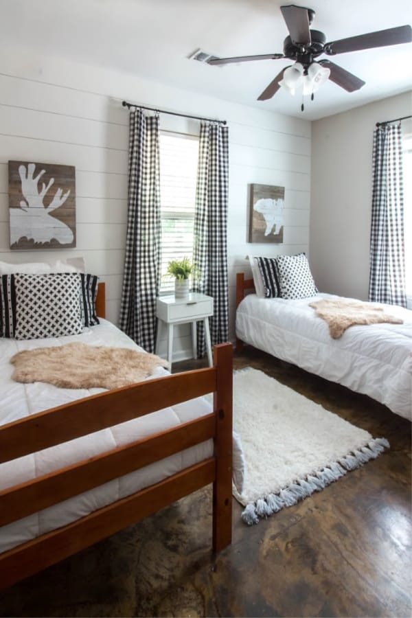 $100 Room Makeover where I made over a bedroom for under $100