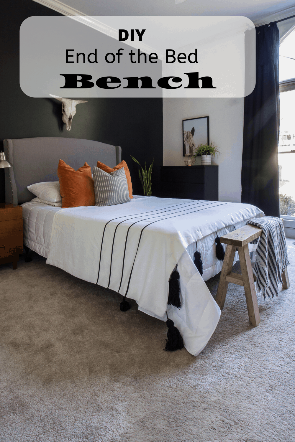 Make a wood bench for your bedroom.