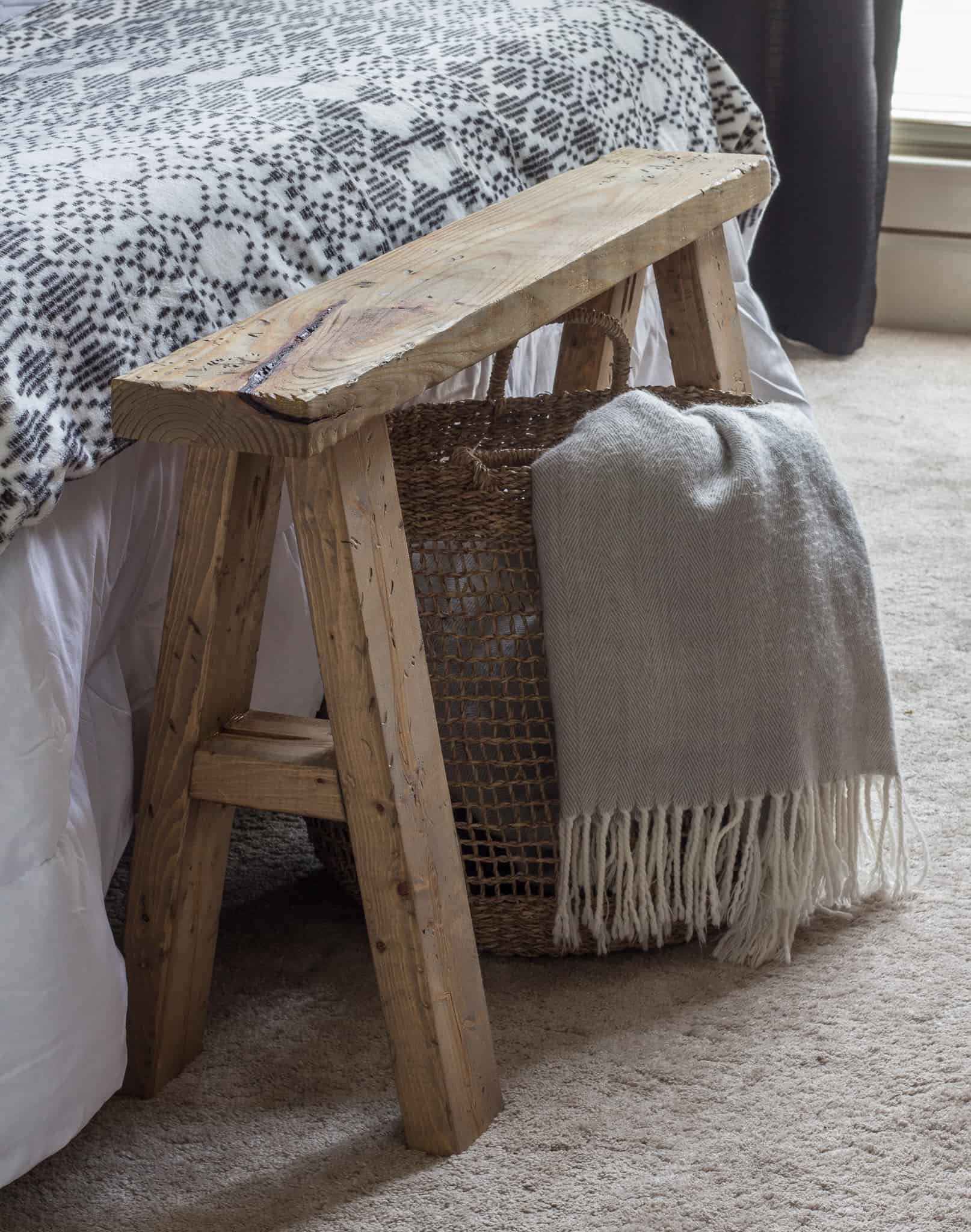 Astonishing Diy End Of Bed Wood Bench Savvy Apron Theyellowbook Wood Chair Design Ideas Theyellowbookinfo